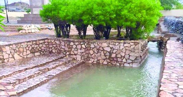 أفلاج ولاية نـزوى تروي المزارع والبساتين بغزارة