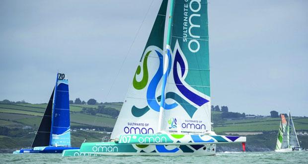 القارب مسندم – عُمان للإبحار ينطلق في سباق فولفو للإبحار حول إيرلندا