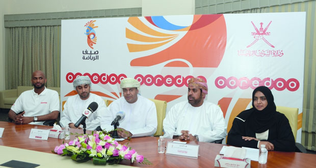 وزارة الشؤون الرياضية تعلن عن شركة اوريدو الراعي الذهبي لبرنامج صيف الرياضة 2016