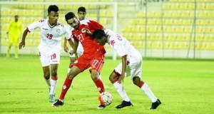 منتخبنا الأولمبي يواجه اليوم نظيره البحريني في التجربة الودية الثانية