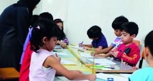 بيت البرندة يفتتح المركز الصيفي بالحلقات الفنية المتنوعة في مجال الفنون التشكيلية