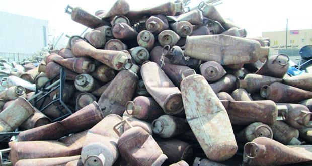 «التجارة والصناعة» تتلف أكثر من 470 أسطوانة غاز منتهية الصلاحية بالداخلية