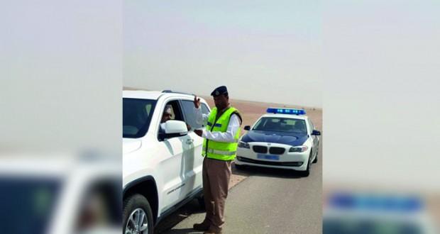 مساعد مدير عام المرور: فريق الضبط المروري في طريق صلالة للحد من السلوكيات الخطرة