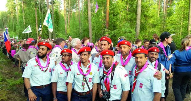 وفد كشافة السلطنة المشارك فـي المخيم الكشفي الدولي بفنلندا يقيم حفل استقبال لكشافة العالم
