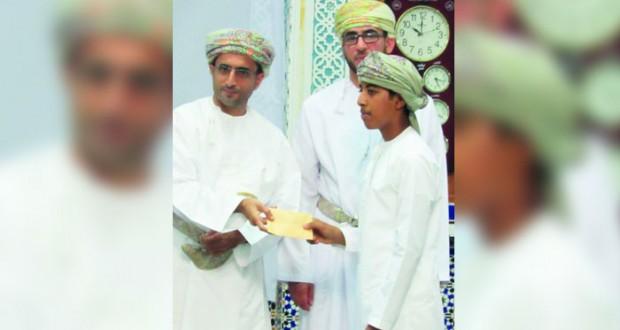 تكريم الفائزين في المسابقة القرآنية والحديث الشريف بشناص