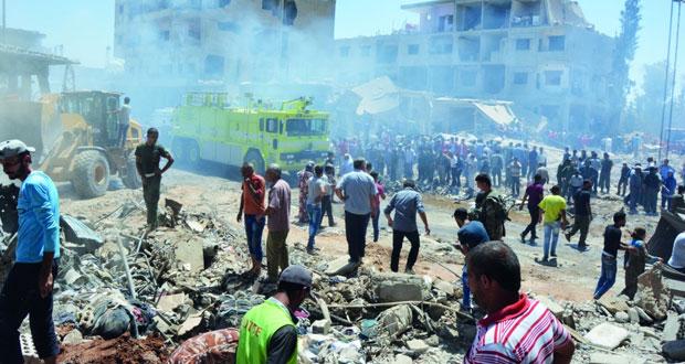 سوريا : مفخخة لـ(داعش) تحصد العشرات بين قتيل وجريح بالقامشلي