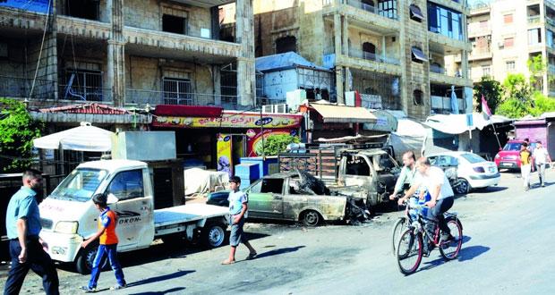 سوريا : قذائف الارهاب تغتال 40 مدنيا وتصيب العشرات بأحياء حلب