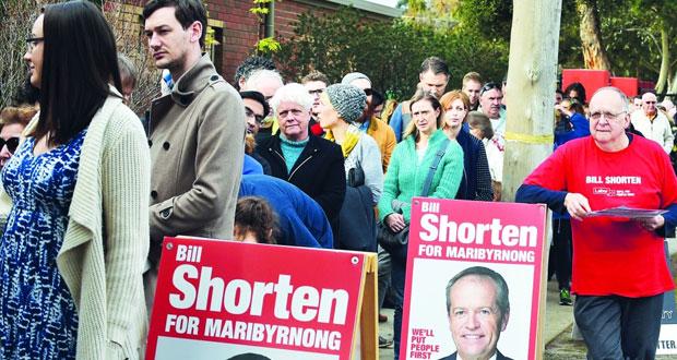 الاستراليون يقترعون فـي انتخابات تشريعية تشهد منافسة حادة