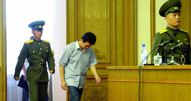 كوريا الشمالية تعتقل منشقا بتهمة التجسس لسيئول ومحتجون يهاجمون رئيس وزراء الجنوبية على خلفية «ثاد»