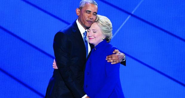 أوباما يعلن دعمه الكامل لكلينتون ويشن هجوماً على الجمهوريين