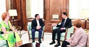 الأسد يشدد على أهمية دور البرلمان الأوروبي في تصويب السياسات الخاطئة لحكوماتهم