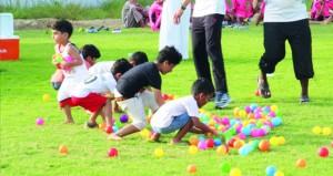 مشاركة واسعة في اليوم الرياضي بقرية الغشبة بصحار