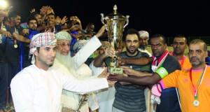 الهلال يتوج بطلا لبطولة شجع فريقك بسمائل والقبسان وصيفا