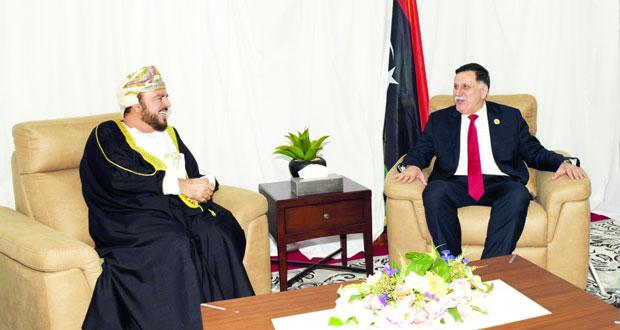 أسعد بن طارق يستقبل رئيس المجلس الرئاسي لحكومة الوفاق الوطني الليبي