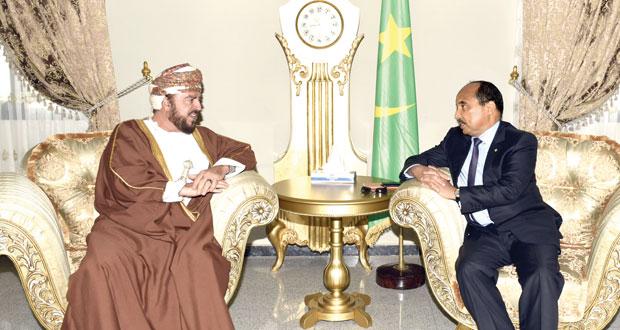 الرئيس الموريتاني وممثل جلالة السلطان يبحثان العلاقات الثنائية