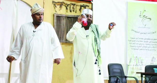 """""""مسرح شباب عمان"""" تقدم """"تطوعي رقي لمجتمعي"""" على مسرح التربية والتعليم بالرستاق"""