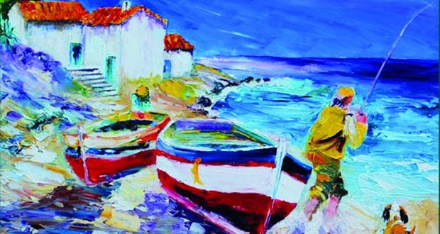 الجزائري بشير توجي .. من البحرية إلى الفن التشكيلي