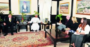 الرواس يستقبل وفد المجلس الوطني للعلاقات العربية ـ الأميركية