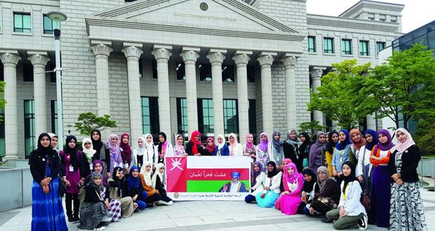 تواصل الرحلة الطلابية للطلبة المجيدين بجامعة السلطان قابوس لكوريا الجنوبية