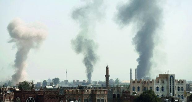 اليمن : مقاتلات التحالف تكثف غاراتها على صنعاء وعمران وصعدة