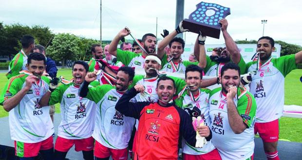 فريق السلطنة يحصل على البطولة الدولية الثانية لكرة القدم الأيرلندية للمرة الأولى