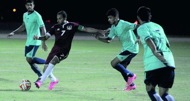 منتخب عمان العسكري لكرة القدم يكسب المضيبي