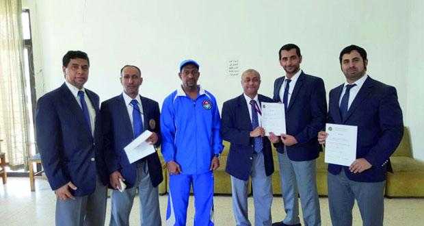 4 حكام كاراتيه يحصلون على الشارة الدولية الآسيوية في دورة غرب آسيا بالأردن