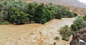 أمطار متفاوتة بعدد من ولايات السلطنة