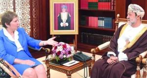 هيثم بن طارق يودع سفيرة البرازيل نيابة عن جلالة السلطان