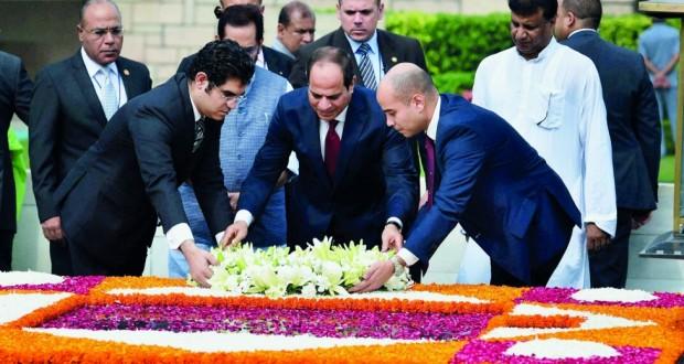 مصر والهند تتطلعان لتحقيق طموحات مشتركة وتتشاركان الجوانب الثقافية