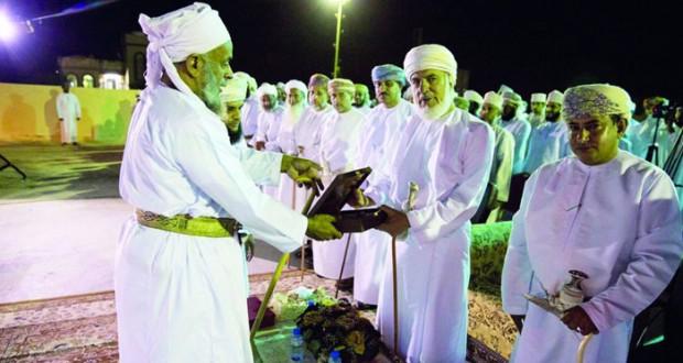 مستشار الدولة يرعى حفل ختام ملتقى شباب المعمور الأول بولاية بهلاء