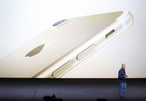 Phil Schiller discusses the iPhone7 during a media event in San Francisco