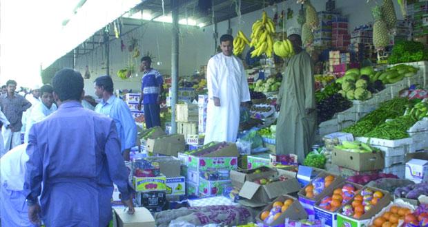 سوق الموالح المركزي يستقبل 5220 طنا من من الخضراوات والفواكه
