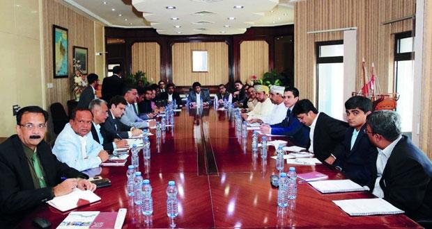 وفد تجاري هندي يزور المؤسسة العامة للمناطق الصناعية