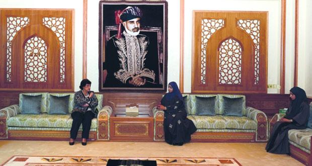 عائشة السيابية تستقبل مديرة معهد العلوم السياسية في لبنان