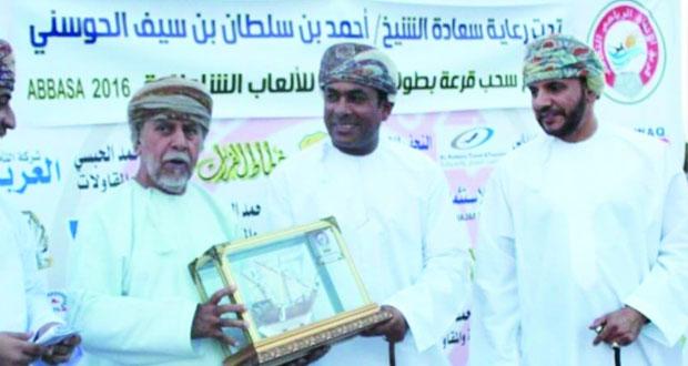 أحمد الحوسني يرعى حفلاًرياضياً بمنطقة عباسة بالخابورة
