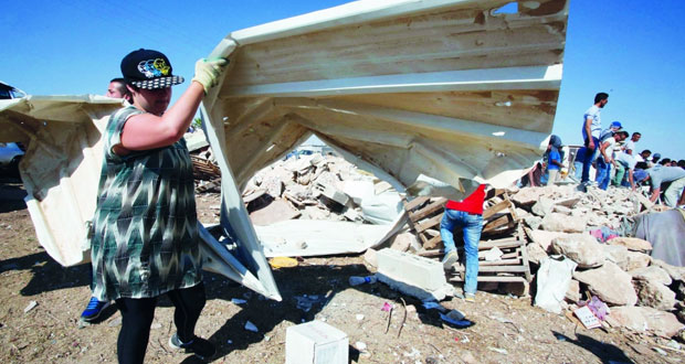 «أوتشا» ترصد اغتيال 3 فلسطينيين وهدم 28 منشأة بالاراضي المحتلة خلال أسبوعين