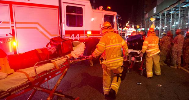 """نيويورك تحبس الأنفاس بعد انفجار """"متعمد"""" يوقع 29 جريحا"""