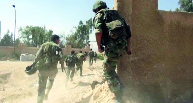 الجيش السوري يحكم قبضته على مخيم حندرات شمال حلب ويقضي على إرهابيين فـي درعا