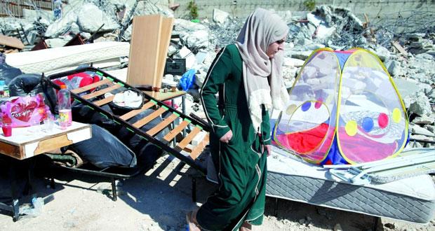 بهدم منازلهم .. الاحتلال يشرد عشرات الفلسطينيين بالقدس المحتلة