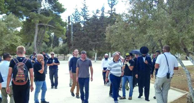 قطعان المستوطنين يجددون اقتحام الأقصى بحماية شرطة الاحتلال