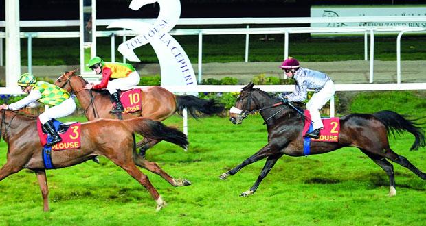 المهرة ضباب للخيالة السلطانية تفوز بسباق كرايون الفرنسي والحصان فولكان يحقق المركز الثالث بتركيا