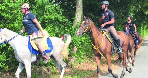 الفارس لؤي بن غالب يحصل على المركز الثالث في سباق هيسيسش الألماني للقدرة والتحمل