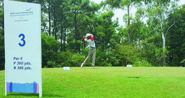 رشاد الحارثي يشارك في بطولة آسيا والمحيط الهادئ للجولف للناشئين في تايوان