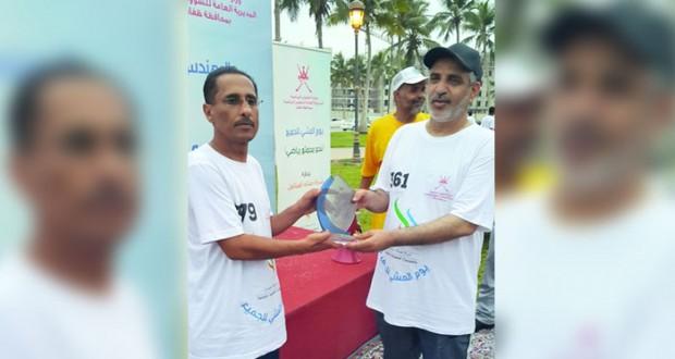ختام رائع ليوم المشي للجميع بمشاركة أكثر من 700 شخص