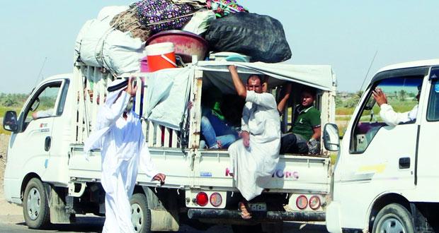 العوائل العراقية تبدأ العودة إلى منازلها بالفلوجة