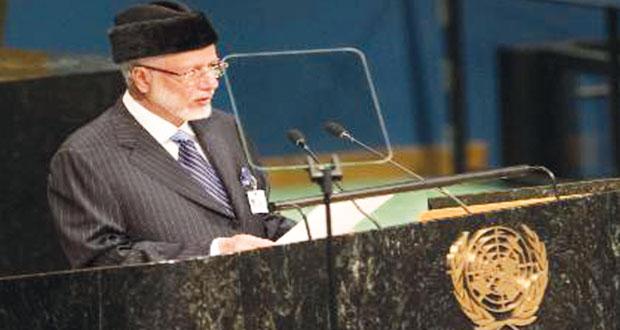 """السلطنة أمام الأمم المتحدة: """"لا ضرر ولا ضرار"""" قاعدة لحل جميع المشكلات"""