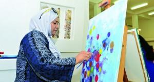 """جمعية الفنون التشكيلية تدشن ملتقى مسابقة """"الرسم من أجل السلام"""""""