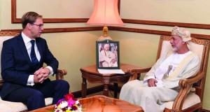 الوزير المسؤول عن الشؤون الخارجية يستقبل وزيراً بريطانياً
