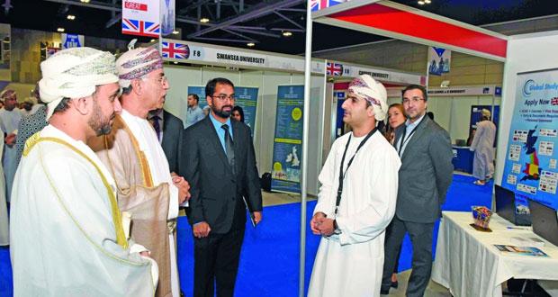 انطلاق معرض التعليم العالي والتدريب والتوظيف «ايدو تراك عمان»